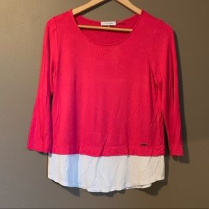 3 for $20! Calvin Klein pink top with white bottom
